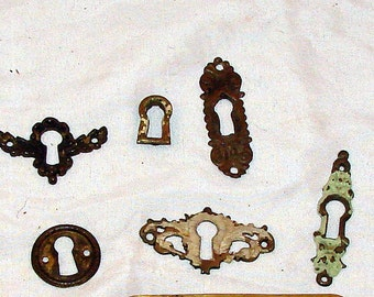 Antique Keyhole Covers Not Reproductions