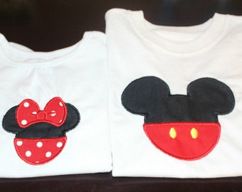 Classic Mickey and Minnie Embroidered Shirts