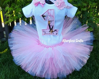 Pink Camo Tutu, Pink Camo Birthday Tutu, First Birthday Pink Camo Tutu, Pink Camouflage Tutu, Pink Camouflage Birthday Tutu, Pink Camo Set