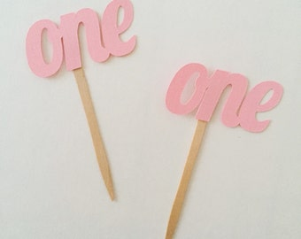 One Cupcake Toppers, First Birthday Cupcake Toppers