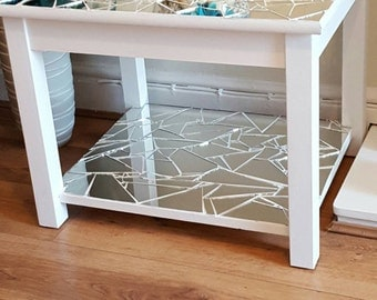 Modern mirrored mosaic occasional table, side table, lamp table