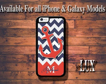 Anchor iPhone 6 Case/ Orange iPhone 6 Plus Case/ Personalized iPhone 5/5S Case/ iPhone 4/4s Case