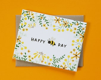 Happy Bee Day Birthday Card