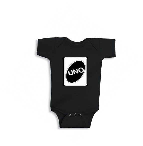 Uno t shirt onesie 1 year old first birthday fun cute by for Cool t shirts for 12 year olds