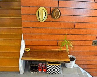 Black Walnut Live Edge Coffee Table/Hallway bench