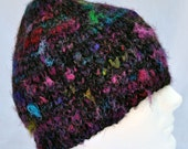 Hand Knit Alpaca and Silk Noil Winter Hat 14006