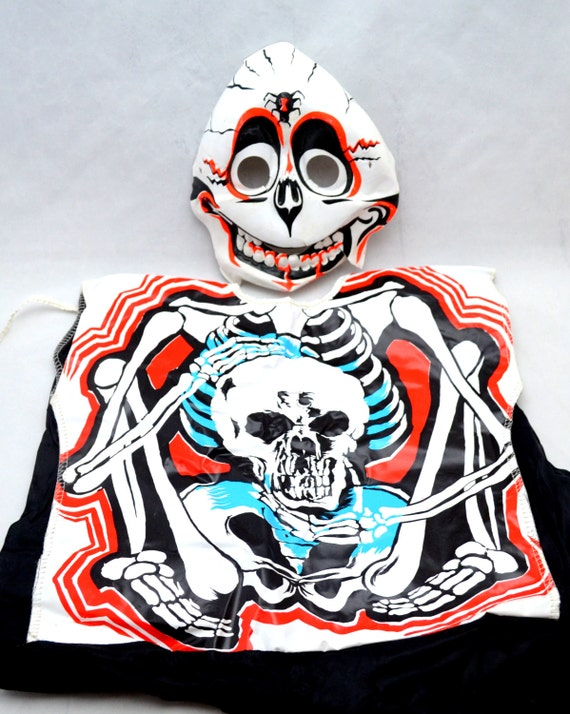 Vintage Collegeville Costume, Halloween Skeleton