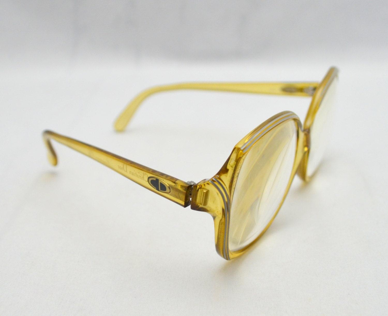 Vintage Dior Eyeglass Frames : Vintage Christian Dior Eyeglass Frames Yellow by ...