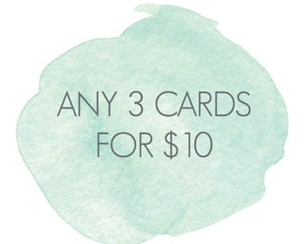 Any 3 Cards - Special Offer