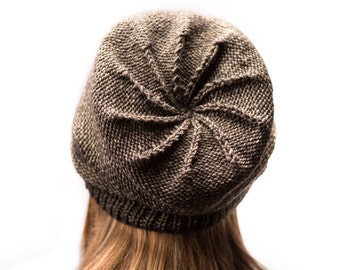 Easy Knit Slouchy Beanie Pattern- Child, Adult, Large Adult