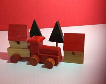 Miniature Train Set All Wood