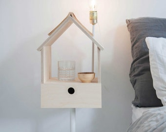 Birdhouse, multifunctional piece acting