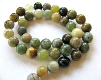 Serpentine beads, 29 beads, 8mm - #73