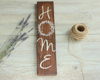 Home wood sign, New home housewarming gift, Home wooden sign, Rustic wooden sign, Rustic Home decor, House gift, Home sweet home