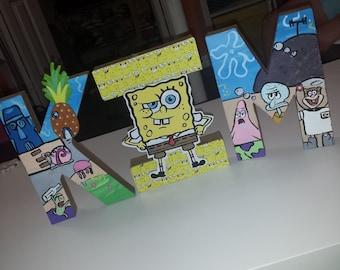 Sponge Bob Paper Mache Letters