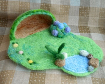 Miniature Needle Felt Garden Playscape - Waldorf inspired