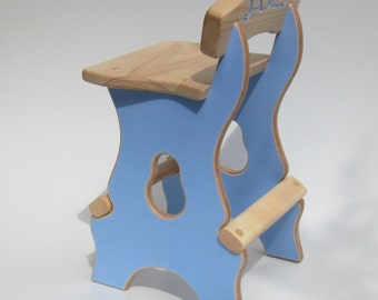 kids  wood stool, handmade in solid Ash and quality birch plywood, their own personal play  chair.