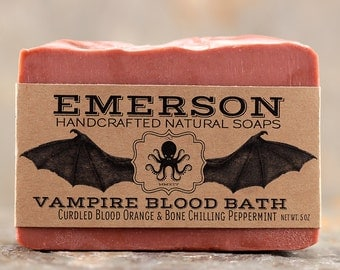 Vampire Blood Bath Soap with Blood Orange & Peppermint • Palm Free Soap, All Natural Soap, Vegan Soap, Cold Process Soap