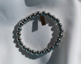 Bracelets Gold and Silver With Hematite Beads