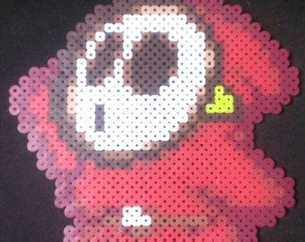 Super Mario shy guy pixel art bead sprite