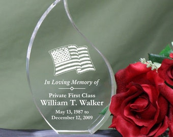 In Loving Memory Military Memorial Tear Keepsake, Military Memorial Tear Keepsake