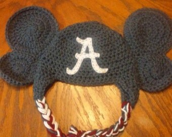 Handmade crocheted Alabama inspired hat sizes newborn to adult