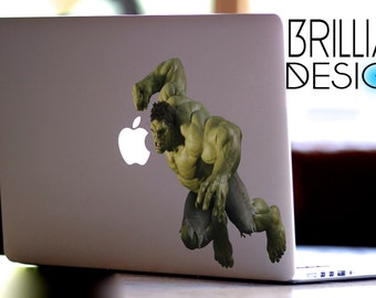 The Incredible Hulk,The Hulk Decal,Sticker,Skin,MacBook Pro, Macbook Air,Gift, Geekery,Marvel Comics, The Avengers, for him,for her