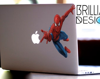 Spiderman,SpiderMan Decal,Sticker,Skin,MacBook Pro, Macbook Air,Gift, Geekery, Marvel Comics,Marvel, for him,for her