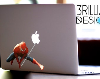 Spiderman Decal, Spiderman Macbook Decal, Spiderman Sticker, Spiderman, Spider Man Skin, Spider-man MacBook Pro Decal, Marvel Comics Decal