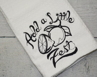 Add a Little Zest Kitchen Towel