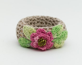 Bracelet Bangle Wood bracelet knit bracelet Knitted bracelet