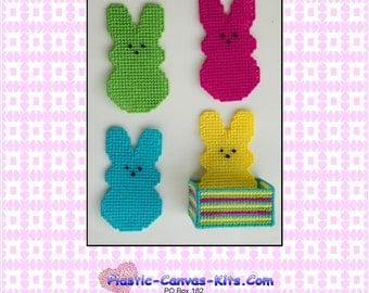 Easter Peeps Coaster Set-Plastic Canvas Pattern-PDF Download- NOT a finished item