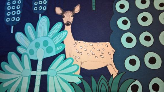 Marimekko Kaunis Kauris 100 Cotton Fabric Deer Teresa