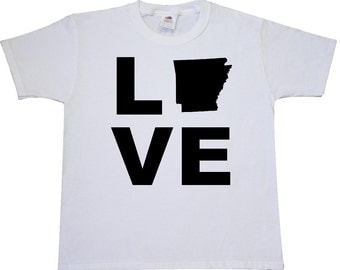 Love Arkansas Youth T-Shirt by Inktastic