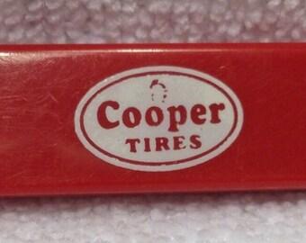 Red Cooper Tires Sliding Blade Knife