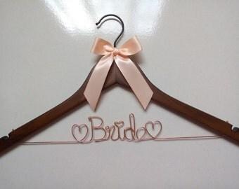 Promotion,Brides Hanger,Single Line Bride Name Personalized Wedding Hanger,Flower girl,Bridesmaid Hanger,Custom Bridal Hanger,Ships in Today