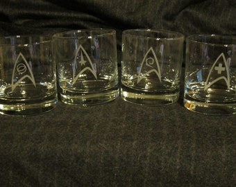 Star Trek Rock Glass Set of 4