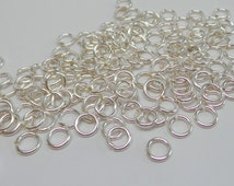 925 solid Sterling silver jump rings open. 6 mm jump rings. 18 gauge. handmade.. Wholesale. JR65