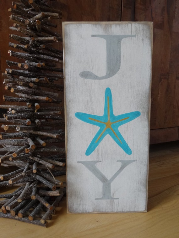 Items Similar To Joy Christmas Sign Hand Painted Wood