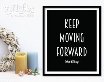 Quote wall decal walt disney | EtsyKeep Moving Forward Quote Meet The Robinsons