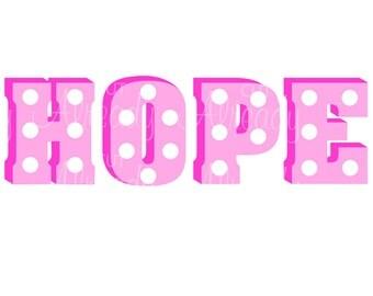 Hope SVG, Hope PNG, Hope Cut file, Instant Download