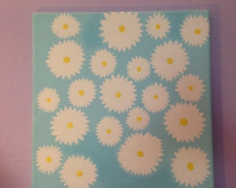 Cute hand painted daisy painting
