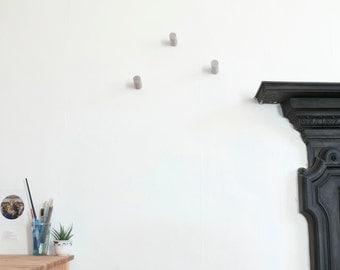 Concrete wall hooks/Coat hook/Towel hook/Hanger/Storage/Holder/Peg/Wall mount/Beton/Minimalist/Rustic/Decor/SET OF 3