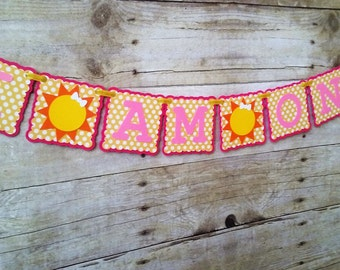 Sun High Chair Banner - First Birthday - Party Supplies - Age Banner