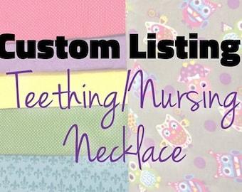 Custom Teething/Nursing Necklace