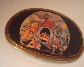 Rare vintage Pacifica Queen Crest Belt Buckle from A Day at the Races