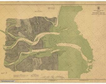 Ossabaw Sound GA Historical Map 1916