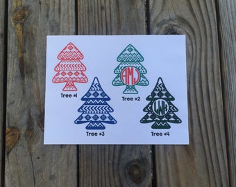 Aztec Christmas Tree Vinyl Decal
