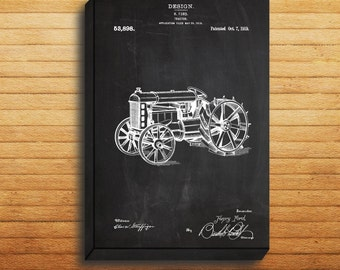 Tractor Patent, Tractor Poster, Tractor Print, Tractor Art, Tractor Decor, Tractor Blueprint