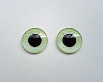 Hand Made Blythe Eye Chips Mint Green (1 pair)